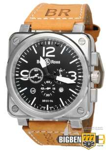 Часы Bell & Ross Aviation BR Chronographe Silver E-2205