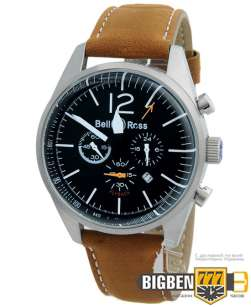 Часы Bell & Ross Vintage BR Blackbird Flyback Brown E-2200