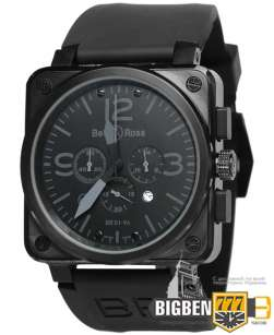 Часы Bell & Ross Aviation BR Chronographe All Black E-2004