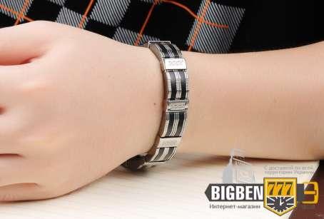 Двухцветный мужской браслет E-1515