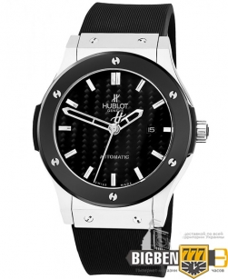 Часы Hublot Classic Fusion Silver Carbon Automatic