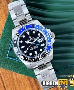 Часы Rolex GMT Master II Silver-Black-Blue