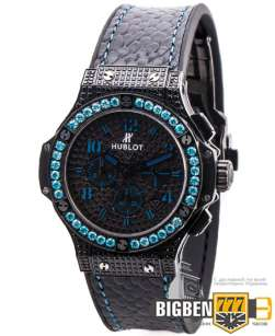 Часы Hublot Big Bang Black Fluo Blue Edition E-960