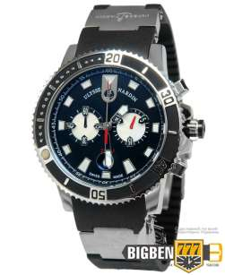 Часы Ulysse Nardin Maxi Marine Chronograph Black Е-839